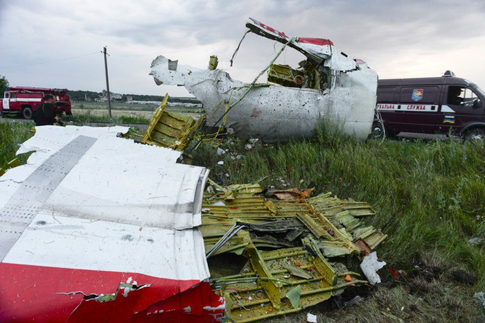 Wreckage from the MH17 plane crash