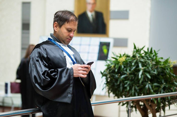 lawyer in a robe
