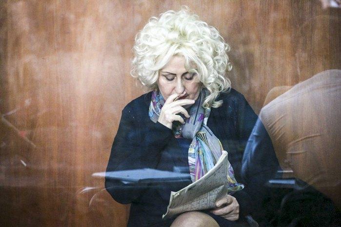Former mayor of Sloviansk Nelya Shtepa during the court hearing. Photo by ru.slovoidilo.ua