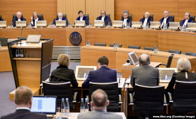 International Tribunal for the Law of the Sea hearing, 25 May 2019. Photo: www.itlos.org
